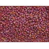Seedbead Loose Opaque Ruby Aurora Borealis 10/0